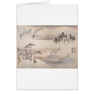 Alte japanische Malerei circa 1800's Grußkarte