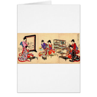 Alte japanische Malerei. Circa 1895 Grußkarte