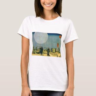 Alte japanische Malerei, Mond. Circa 1800's. T-Shirt