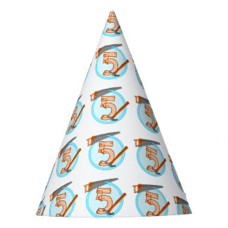 Alte Jungen-Geburtstag FÜNFJAHRESWERKZEUGE Partyhütchen