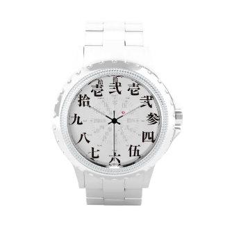 Alte Kanjiart Japans [weißes Gesicht] Uhr