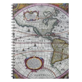alte Karte Amerika Notizblock