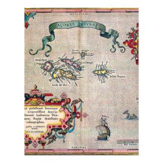 Alte Karte Azoren - Vintage Segeln-Erforschung