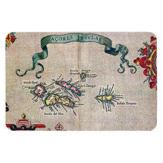 Alte Karte Azoren - Vintage Segeln-Erforschung Magnet