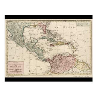 Alte Karte der Antillen Karibische Meere (1765)