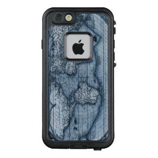 Alte Karte der Welt im Blau LifeProof FRÄ' iPhone 6/6s Hülle