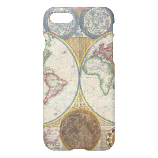 Alte Karte der Welt iPhone 8/7 Hülle
