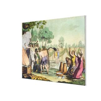 Alte Kelten oder Gauls, die eine Kuh, c.1800-1 opf Leinwand Drucke