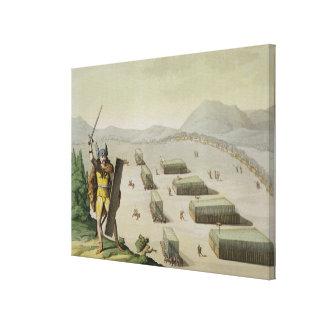 Alte Kelten oder Gauls im Kampf, c.1800-18 (colou Gespannte Galeriedrucke
