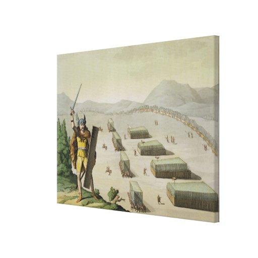 Alte Kelten oder Gauls im Kampf, c.1800-18 (colou Leinwanddrucke