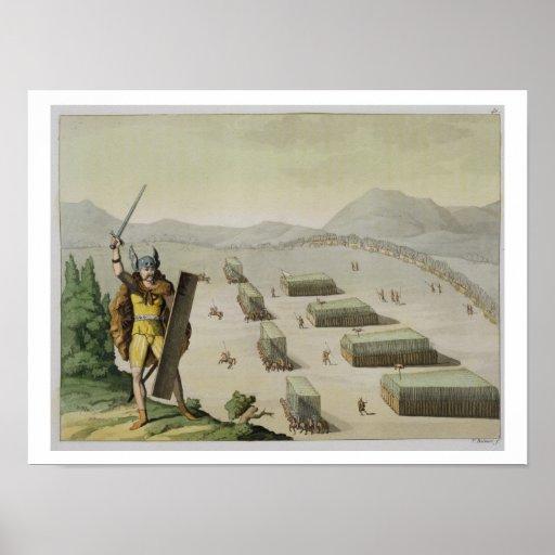 Alte Kelten oder Gauls im Kampf, c.1800-18 (colou Plakat