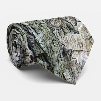 Alte Kiefern-Barken-Natur Personalisierte Krawatte