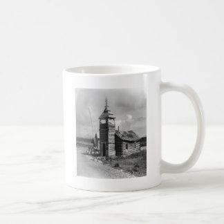 Alte Kirche in B/W Kaffeetasse