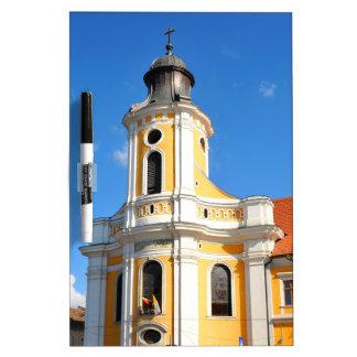 Alte Kirche in Klausenburg Napoca, Rumänien Memoboard