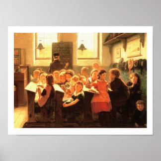 Alte Klassenzimmer-Szenen-Malerei von Jakob Poster