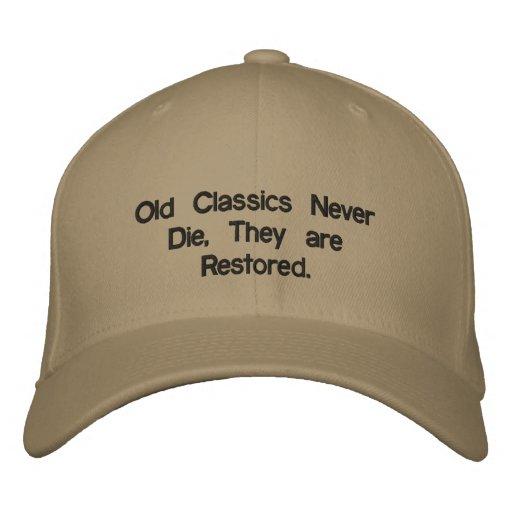 Alte Klassiker sterben nie Bestickte Caps