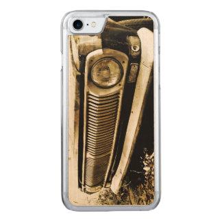 Alte klassische Auto-Scheinwerfer Carved iPhone 8/7 Hülle