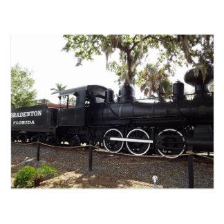 Alte Kohl-Kopf-Zug-Motor-Postkarte Florida Postkarte