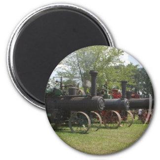 Alte Kohlen-Motor-Traktoren Runder Magnet 5,7 Cm