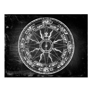 Alte Kompass-Rose (B&W) Postkarte
