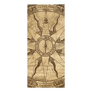 Alte Kompass-Rose Werbekarte