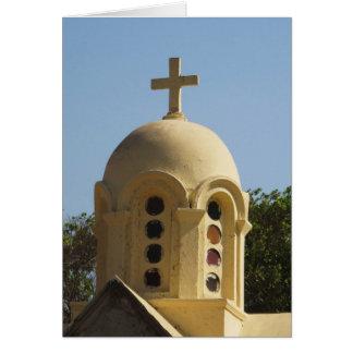 Alte koptische Kirche in Kairo, Ägypten Karte