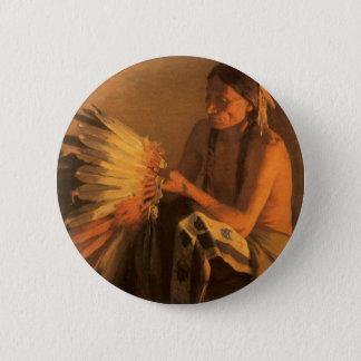 Alte Kriegs-Mütze durch Joseph- Henryscharfes Runder Button 5,7 Cm