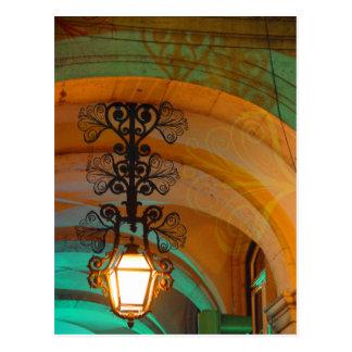 Alte Lampenpostkarte Lissabons Postkarte