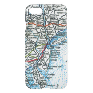 Alte Landstraßen-Karte New York City und iPhone 8/7 Hülle
