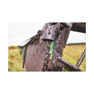 alte landwirtschaftliche Maschinen Leinwanddruck