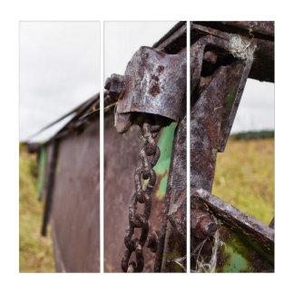 alte landwirtschaftliche Maschinen Triptychon