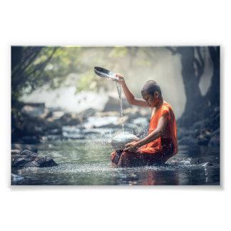 Alte Meditation Asien Fotodruck