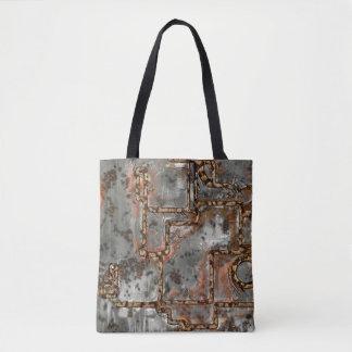 Alte Metallwand A Tasche