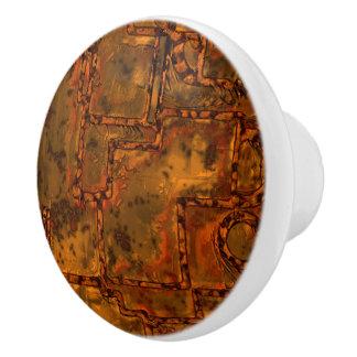 Alte Metallwand C Keramikknauf