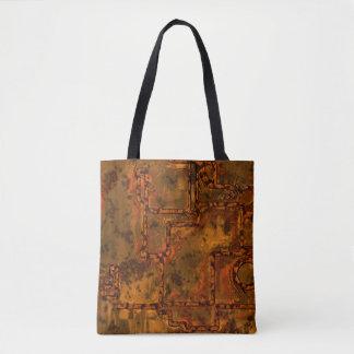 Alte Metallwand C Tasche