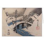 Alte Mode-japanische Weihnachtskarten Karte