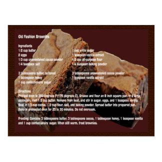 Alte Mode-Schokoladenkuchen-Rezept-Karte