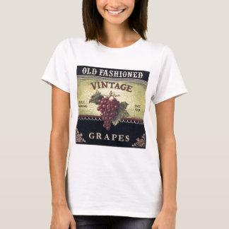 Alte Mode-Vintager Trauben-, Lila und T-Shirt