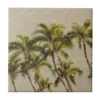 Alte Mosaik-Palmen Keramikfliese