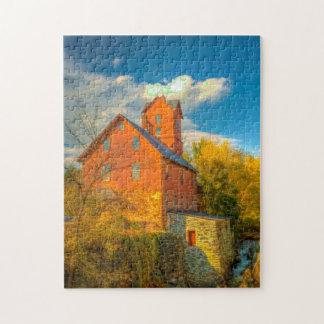 Alte Mühle in Vermont. Puzzle