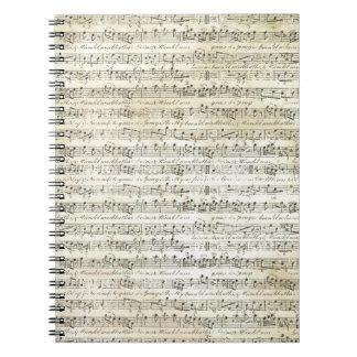 alte Musik Notizblock