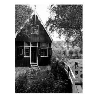 Alte niederländische Hütte Postkarte