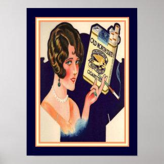 Alte NordStaats-Zigaretten-Vintage Anzeige 12 x 16 Poster