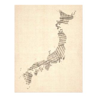Alte Notenen-Karte von Japan Flyer