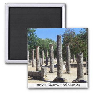 Alte Olympia - Peloponnes Quadratischer Magnet