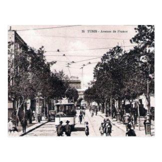 Alte Postkarte - Alleende Frankreich, Tunis