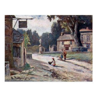 Alte Postkarte - altes Matlock, Derbyshire