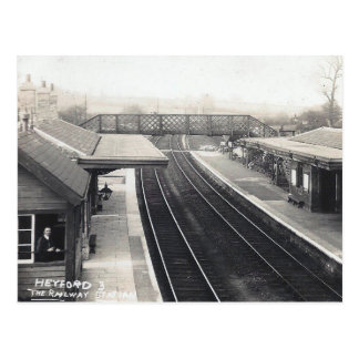 Alte Postkarte - Bahnhof, Heyford, Oxon