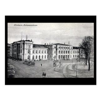 Alte Postkarte - Bahnhof, Kristiania (Oslo)