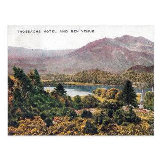 Alte Postkarte - Ben-Ort, Trossachs, Schottland